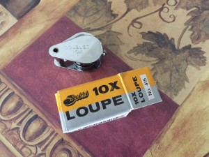 Loupe, helpful tool for viewing very tiny insects