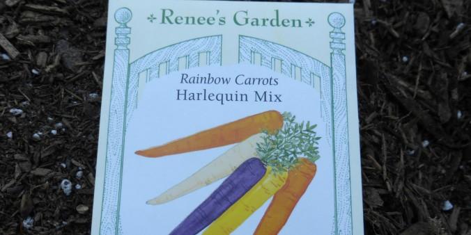 packet of Renees garden brand carrot seeds