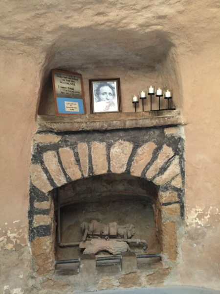 Forestiere's fireplace.