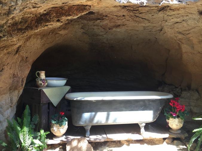 Forestiere's solar heated bath tub.